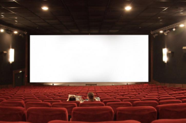 Big screen at a movie theatre